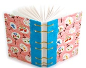 Pink Chiyogami Unlined Journal - handmade by Ruth Bleakley