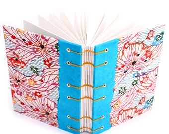 Unlined Journal with Katazome Paper - handmade by Ruth Bleakley