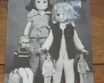 Vintage 1971 Crocheting and Knitting patterns for DOLLS by Virginia Lakin book no. 10