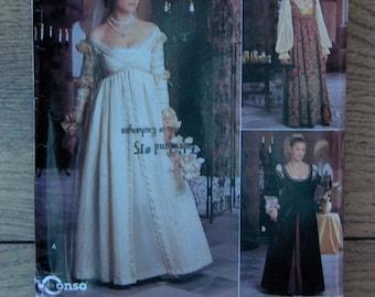 1999 Simplicity pattern 8735 / 0657 Misses RENAISSANCE costumes sz 4-6-8 uncut