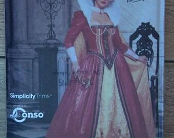 2001 Simplicity pattern 9832  Misses RENAISSANCE costumes sz 6-8-10-12 uncut