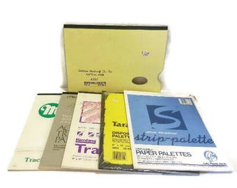 Lot Of Six Disposable Palette And Tracing Pads