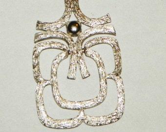 Silver Aztec Style Necklace Pendant