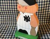 "New Yorks Yankees 8.5"" - wooden baseball player-handmade wood figure-gifts for New York Yankees fan"