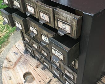 Vintage Metal Industrial Tool Organizer/ Apothecary