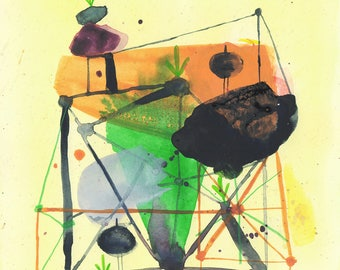 Original Watercolor and Mixed Media Painting