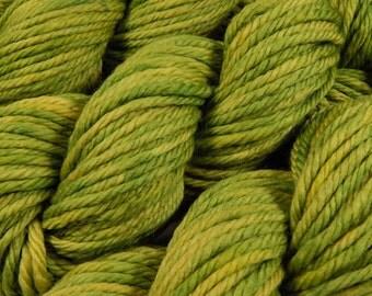 Hand Dyed Yarn - Bulky Weight Superwash Merino Wool Yarn - Lettuce Tonal - Knitting Yarn, Green Bulky Yarn, Knitter Gift, Chunky Knits