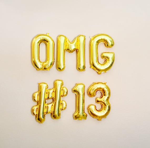 OMG Balloon Letters, OMG Balloon, OMG #13, OmG Its Your