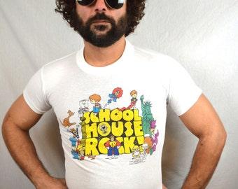 Vintage 90s 1995 School House Rock Tee Shirt Tshirt