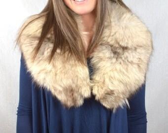 Vintage Fur Fox Collar Pelt Stole
