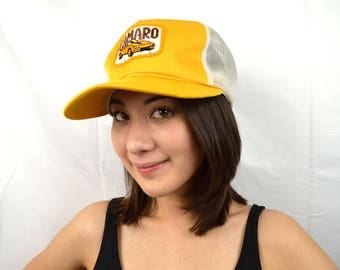 Vintage Camaro Yellow 80s Snapback Trucker Hat