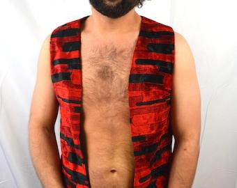 Vintage Ethnic Carpet Hippie Long Tunic Vest - By Aladdin