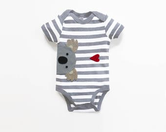 Baby Koala Bodysuit : Baby Boy,  Baby Boy Shower, New Baby Boy