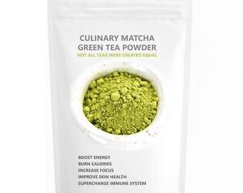 Matcha Green Tea Powder (16oz) - USDA Organic, Kosher & Non-GMO Certified, Vegan and Gluten-Free, Incredible Flavor