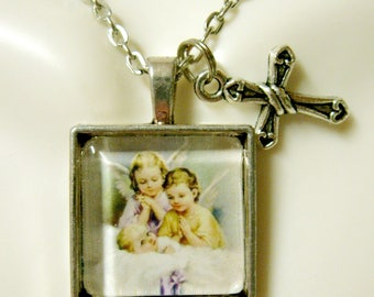 Guardian angel pendant and chain - AP28-050