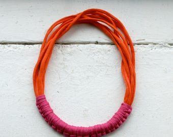 Coral and Pink Macy necklace