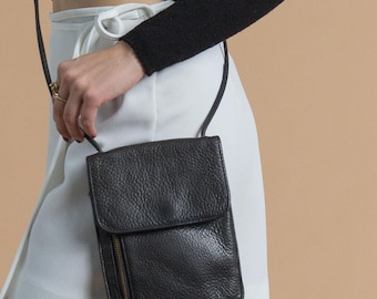 Vintage 90s Black Leather Wallet Purse