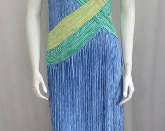 Mary McFadden Couture Fabulous Fortuny pleated Delphos Goddess dress size Medium 8-10