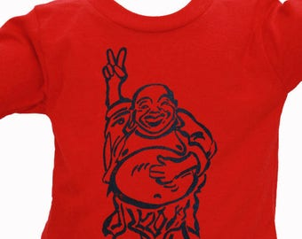 Peace Buddha| Toddler T shirt| Soft Children T Shirt| Hotei| size 2T, 3T, 4T, 5T, 6T|Great gift for boys and girls| Ohm| Yoga kids.
