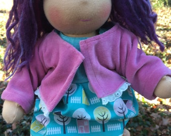 Custom Made Waldorf Baby Doll Button-Jointed 12 - 13 inch