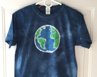 Kids Earth Day Shirt, Kids Earth Shirt, Boys Earth Day Shirt, Girls Earth Day Shirt, Batik Earth Shirt, Earth Day Shirt (Youth L)