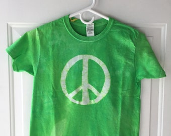 Kids Peace Sign Shirt, Kids Peace Shirt, Green Peace Sign Shirt, Green Peace Shirt, Boys Peace Shirt, Girls Peace Shirt (Youth S)