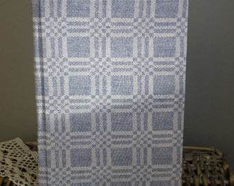 Writing Journal /  Handmade Sketchbook / Handmade Journal / Unique Journal /  Notebook /  Diary /  A5. 8 x 6 inch Blue and White plaids