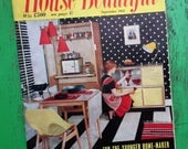 House Beautiful Sept 1955 Vintage 1950s Magazine UK Mid Century Decor Furnishings 50s Modern Architecture Solar House Homes advertisements