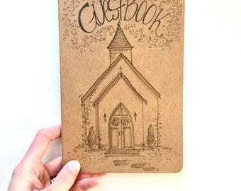 CUSTOM Guest Book With Wedding Venue, Illustration, Wedding Venue, Landmark, Hand Drawn, Original Drawing