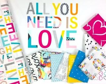 Letters - Fat Quarter Bundle - Art Gallery Fabrics (10 prints)