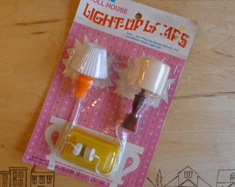 1970s Dollhouse Lamps - Battery Powered - In Package