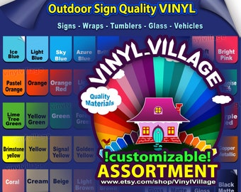"4 rolls 6""x5'feet Adhesive Backed Vinyl YOU PICK COLORS Outdoor sign quality, Craft cutter wraps, tumblers, glass, vehicle lot vinyl_village"