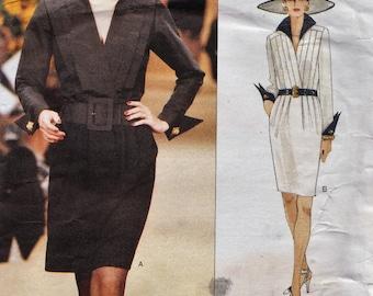Vogue 1581 / Paris Original / Designer Sewing Pattern By Yves Saint Laurent / Dress / Sizes 16 18