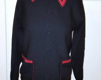 Vintage 1970s Italian Wool Cardigan Sweater