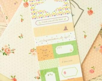 Yellow Fabric Sticker Ver 2 self adhesive craft stickers