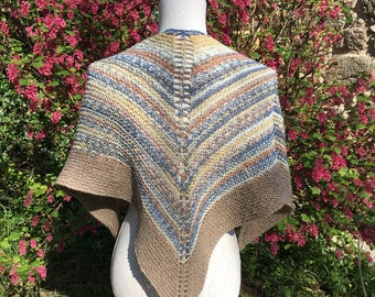 Hand Knitted Shawl / Kerchief Made in Cornwall