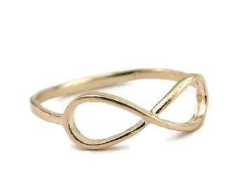 Gold filled Ring, Infinity Ring, Simple Ring, Gold Ring, 14k Gold Filled , Delicate Ring, Birthday Gift, Gift For Her size 5.5 -6-,7-7.5-,8