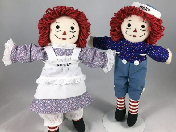 "Made to Order 15"" Raggedy Ann OR Raggedy Andy Doll- handmade, personalizion and earth friendly materials available too."