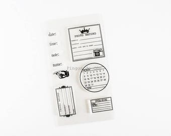 Stamp Set - Planner Stamp - Clear Stamps - Card Making - Scrapbooking - Ready to Ship