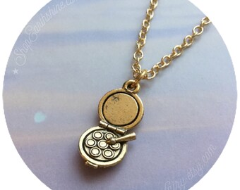 Makeup Eyeshadow Palette necklace, MUA charm necklace, gold plated charm