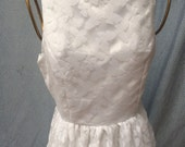 Simple, sweet butterfly lace boat neck white dress