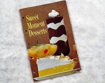 1963 Sweet Moment Desserts, Vintage Cookbook Booklet, General Foods