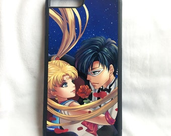 Printed iPhone and Samsung phone case - SailorMoon and Tuxedo Mask