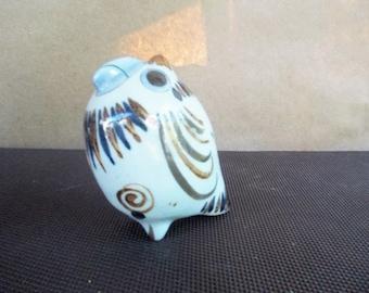 Vintage Tonala Mexico Owl Figurine