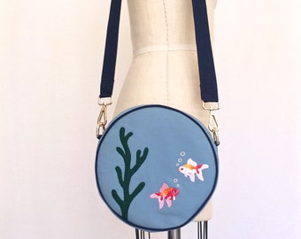 Fish Bowl Purse (Shoulder bag with detachable strap)/ Handbag
