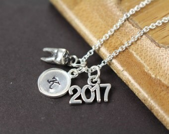 Dental Graduation Gift for Dental Hygienist, Dental Assistant, Tooth Charm Dental Gifts, 925 Sterling Silver