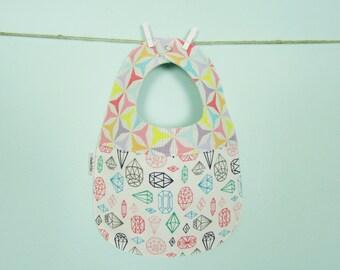 Geometric Print Baby Bib - Owlette Birdie Bib