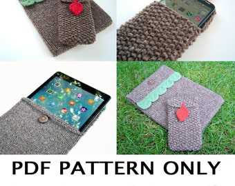 Knitting Pattern - Tech Cozy Pattern - Knitted iPhone case - Tablet sweater - iPad case - smartphone sweater - the ASPEN tech cozies