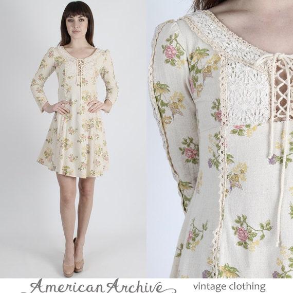 Boho Kleid Hippie Kleid Prairie Kleid Minikleid Boho Hochzeit