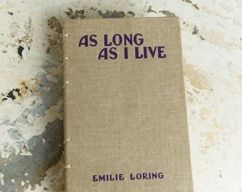 1937 LONG AS I LIVE Wedding Guestbook